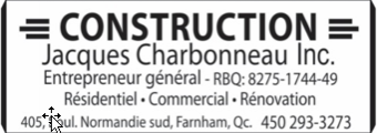 Construction Jacques Charbonneau
