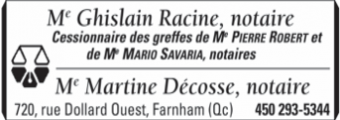 Me Ghislain Racine Notaire