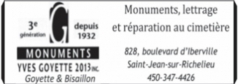 Monuments Yves Goyette