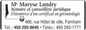 Notaire Me Maryse Landry
